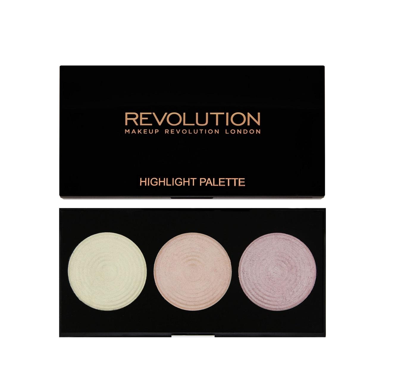 makeup revolution highlighter palette korostusv ripaletti. Black Bedroom Furniture Sets. Home Design Ideas