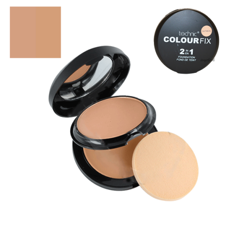Technic Colour Fix 2 in 1 Pressed Powder and Foundation -Oatmeal