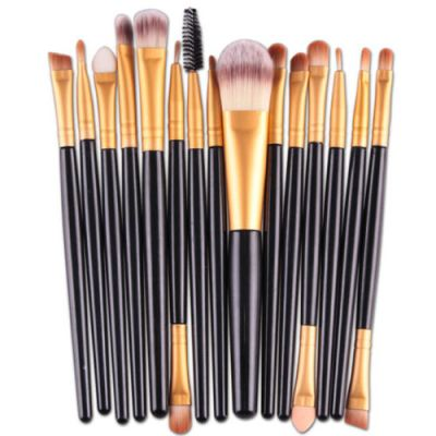 MakeUp 15 pcs makeup brush set - Black-Gold