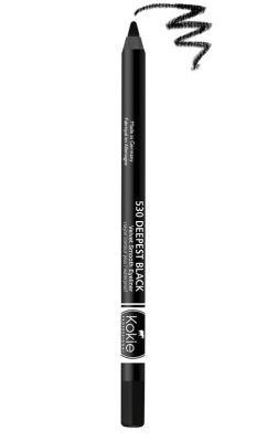 Kokie Waterproof Velvet Smooth Eyeliner - Deepest Black
