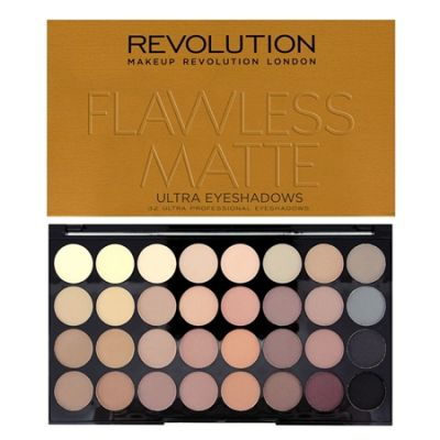 Makeup Revolution Ultra 32 Shade Eyeshadow - Flawless Matte