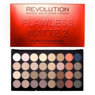 Makeup Revolution Ultra 32 Shade Eyeshadow - Flawless Matte 2