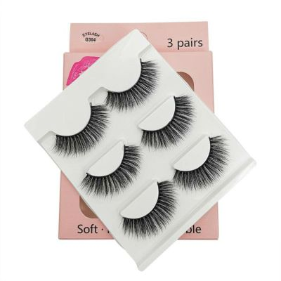3D False lashes - 3 pairs