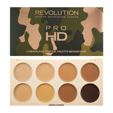 Revolution Conceal Pro HD Camouflage Palette - Medium Dark