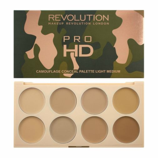 Revolution Conceal Pro HD Camouflage Palette - Light Medium