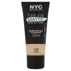 NYC Natural Matte Foundation - Soft Beige
