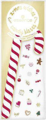 essence x-mas wishes candy kisses scented nail stickers