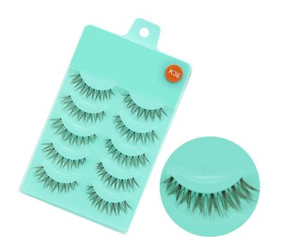 MakeUp false lashes 5 pairs - K36